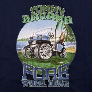 Tommy Bahama Shirt Fore Wheel Drive Tee New